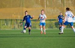 O futebol das mulheres Foto de Stock Royalty Free
