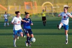 O futebol das mulheres Imagem de Stock Royalty Free