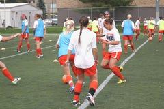 O futebol das mulheres do NCAA Foto de Stock Royalty Free