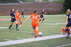 O futebol das mulheres do NCAA Foto de Stock