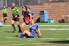 O futebol das mulheres do NCAA DIV III da faculdade Foto de Stock Royalty Free