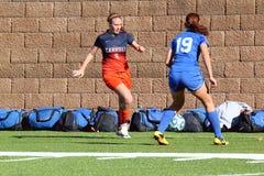 O futebol das mulheres do NCAA DIV III da faculdade Imagem de Stock