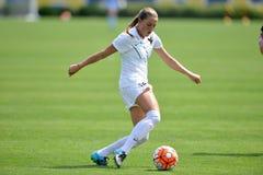 2015 o futebol das mulheres do NCAA - Villanova @ WVU Imagens de Stock Royalty Free