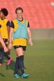 2015 o futebol das mulheres do NCAA - WVU-Maryland Fotos de Stock Royalty Free