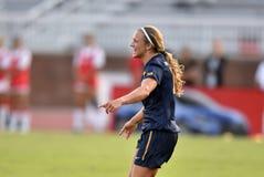 2015 o futebol das mulheres do NCAA - WVU-Maryland Fotos de Stock