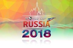 O futebol 2018 de Rússia do campeonato do mundo do logotipo do tema ilustração royalty free