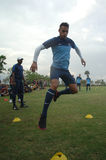 O futebol do international de Indonésia do campo de treinos Fotos de Stock Royalty Free