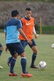 O futebol do international de Indonésia do campo de treinos imagem de stock royalty free
