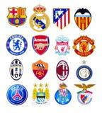 O futebol europeu bate o logotipo ilustração stock
