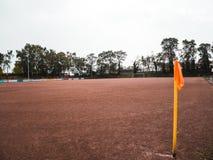 O futebol rural da cinza lança dentro Alemanha foto de stock
