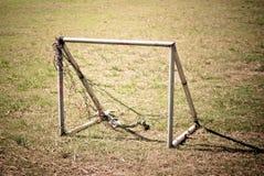O futebol velho e pequeno Foto de Stock