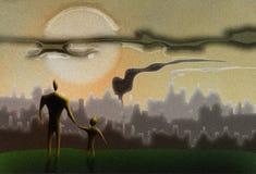 O futuro da terra está em suas mãos ilustração do vetor