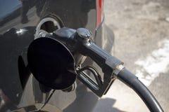 O gás enche-se acima imagem de stock
