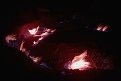 O gás natural arde em Andreia?u de Jos, Roménia Imagens de Stock Royalty Free