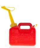 O gás vermelho plástico pode Foto de Stock Royalty Free
