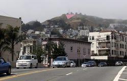 O gêmeo repica o triângulo cor-de-rosa imagens de stock royalty free