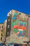 O galo - pintura mural por Aryz Fotografia de Stock Royalty Free