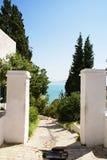 O Gateway da alegria de relaxa Foto de Stock