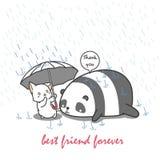 O gato ciao a panda ilustração stock