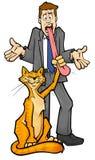 O gato começ sua lingüeta? Fotos de Stock Royalty Free
