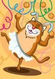 O gato da dança ilustração royalty free