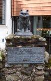 O gato de Towser viveu na destilaria de Glenturret, Escócia fotos de stock royalty free