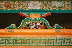 O gato do sono em Nikko, santuário de Toshogu fotos de stock royalty free