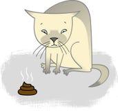 Gato culpado ilustração stock