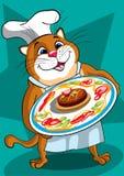 O gato principal ilustração do vetor