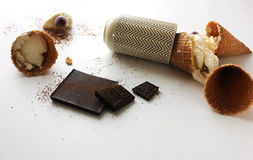 O gelado caiu Foto de Stock