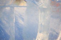 O gelo claro está cintilando no sol Foto de Stock