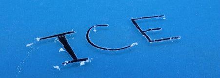 O gelo da palavra Fotos de Stock Royalty Free
