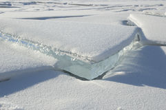 O gelo de Baikal. Foto de Stock Royalty Free