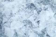 O gelo detalhado fragmenta a textura imagem de stock