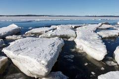 O gelo marinho é destruído na mola Fotos de Stock Royalty Free