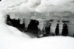 O gelo - molhe no sólido - estado Fotos de Stock Royalty Free