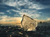 O gelo no Golfo da Finlândia imagens de stock