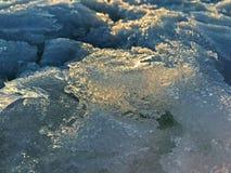 O gelo no Golfo da Finlândia imagem de stock royalty free