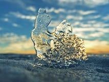 O gelo no Golfo da Finlândia imagem de stock