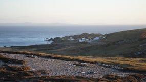 O general gravou da construção do plateau de filmagem de Star Wars em Malin Head Imagens de Stock
