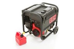 O gerador e o gás da emergência podem fotos de stock