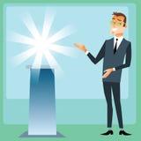 O gerente apresenta o tipo de produto Imagem de Stock