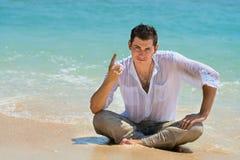 O gerente e o chefe dão instruções das férias Fotos de Stock Royalty Free