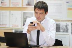O gerente no escritório Foto de Stock Royalty Free