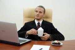 O gerente relaxa Foto de Stock Royalty Free
