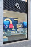 O2 Germany. BERLIN, GERMANY - AUGUST 26, 2014: O2 mobile phone store in Berlin. As of 2013, Telefonica O2 had 17 percent market share in German mobile operators Stock Image