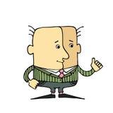 O gesto principal da caricatura, tudo é muito bem Foto de Stock