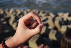 O gesture Stock Photo