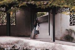 O girl& x27; parte traseira de s Fotografia de Stock