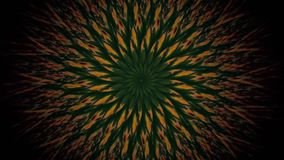 O giro abstrato protagoniza em amarelo e escuro - cores verdes ilustração royalty free